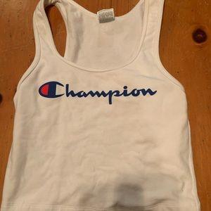 White champion tank top